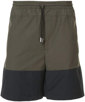 Public School two-tone swim shorts