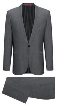 HUGO Boss Wool Cotton Suit, Extra Slim Fit Arti/Hesten 46L Dark Grey