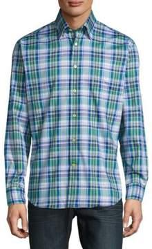 Robert Talbott Anders Verde Casual Cotton Sportshirt