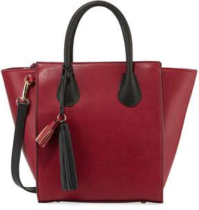 Neiman Marcus Perri Two-Tone Faux-Leather Tote Bag
