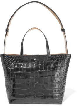 Elizabeth and James - Eloise Croc-effect Leather Tote - Black