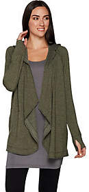 Cuddl Duds Comfortwear French Terry Hoodie Wrap