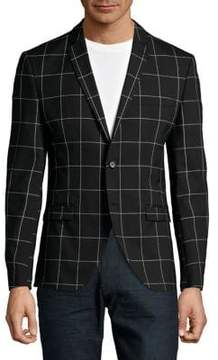 Selected Windowpane Check Sportcoat