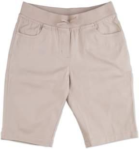 Chaps Girls 4-16 & Plus School Uniform Pull-On Bermuda Shorts