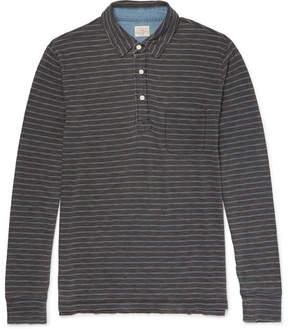 Faherty Striped Indigo-Dyed Cotton-Jersey Polo Shirt