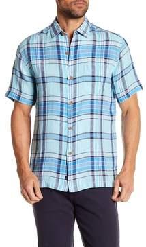 Tommy Bahama Plaid-O-Matic Short Sleeve Linen Print Shirt