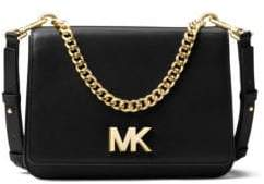 MICHAEL Michael Kors Sloan Turnlock Leather Shoulder Bag