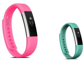 Fitbit Alta HR and Alta Replacement Bands SMALL Size 2 PCS BUNDLE SET, by Zodaca Soft Rubber Adjustable Wristbands Watch Band Strap For Alta HR / Alta SMALL Size - Hot Pink + Mint Green
