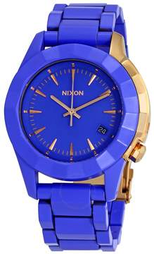 Nixon Monarch Blue Dial Blue Ion-plated Ladies Watch A288-1675