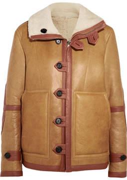Joseph Witham Reversible Oversized Shearling Jacket - Brown
