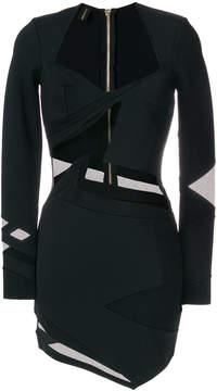 Alexandre Vauthier sheer panel dress