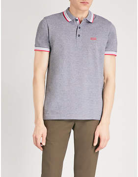 BOSS GREEN Logo-detail cotton-blend polo shirt