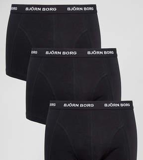 Bjorn Borg 3 Pack Trunks in Black