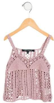 Lili Gaufrette Girls' Crocheted Vest