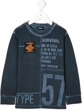Diesel printed longsleeved T-shirt