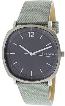 Skagen Men's Rungsted SKW6381 Grey Leather Quartz Fashion Watch