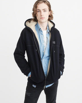 Abercrombie & Fitch Sherpa-Lined Hoodie