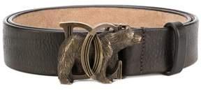 DSQUARED2 Men's Brown Leather Belt.