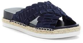 1 STATE Salyn Suede Cross Band Slide Sandals