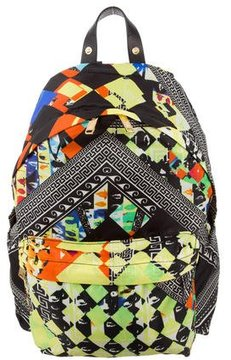 Versus Techno Printed Nylon Backpack w/ Tags