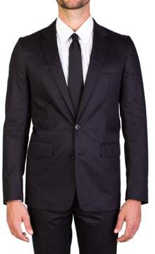 Christian Dior Men's Cotton Two-Button Suit Smoke Black