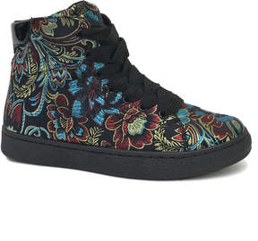 Bamboo Black Floral Smitty Hi-Top Sneaker