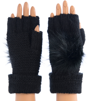Shiraleah Black Portia Fingerless Gloves