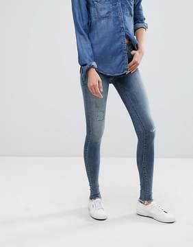 Esprit Frayed Hem Distressed Skinny Jeans