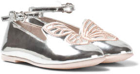 Sophia Webster Mini Bibi Butterfly Mini Silver and Rose Gold Pumps