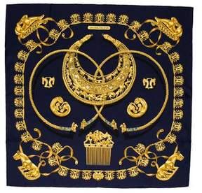 Hermes Les Cavaliers D'Or Silk Scarf