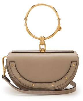 Chloé Nile Minaudiere Small Leather Clutch - Womens - Grey
