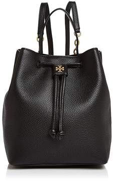 Tory Burch Georgia Pebbled Leather Backpack - BLACK/GOLD - STYLE