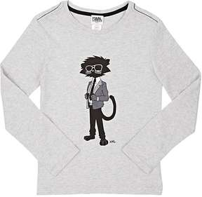 Karl Lagerfeld COTTON LONG-SLEEVE GRAPHIC T-SHIRT