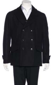 Hardy Amies Wool Double-Breasted Coat