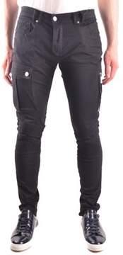 Les Hommes Men's Black Cotton Jeans.