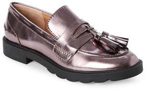 Tahari Gunmetal Sugar Tasseled Loafers