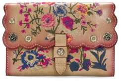 Patricia Nash Prairie Rose Embroidery Colli Leather Wallet