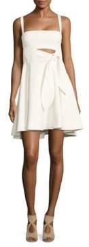Cinq à Sept Nyma Tie-Front Fit-&-Flare Dress