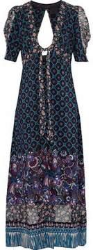 Anna Sui Open-Back Printed Silk Robe