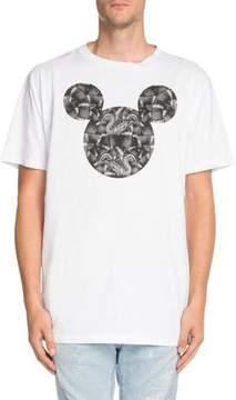 Marcelo Burlon County of Milan Snake-Print Mickey Mouse-Graphic T-Shirt
