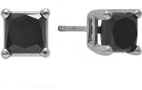 Black Diamond FINE JEWELRY 1/2 CT. T.W. Color-Enhanced Princess-Cut Stud Earrings