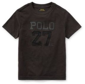 Ralph Lauren Cotton Jersey Graphic T-Shirt Boot Black 3T