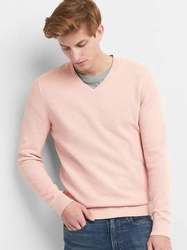 Gap Textured V-Neck Pullover Sweater