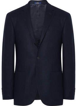 Polo Ralph Lauren Navy Polo 1 Slim-Fit Tick-Weave Wool Blazer