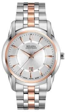 Bulova Accutron Men's 'Sorengo' Stainless Steel Quartz Watch 65B152