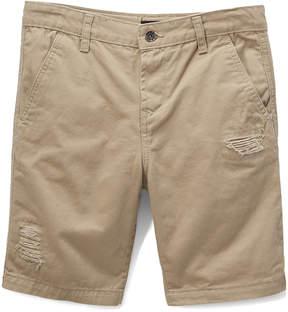 DKNY Mouse Tan Flat Front Shorts - Boys