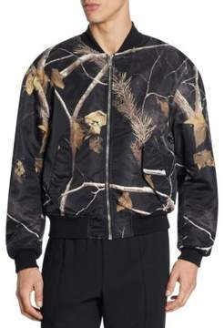 Alexander Wang Leave & Tree Print Winter Jacket