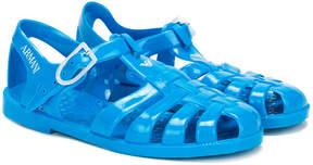 Emporio Armani Kids cage jelly sandals