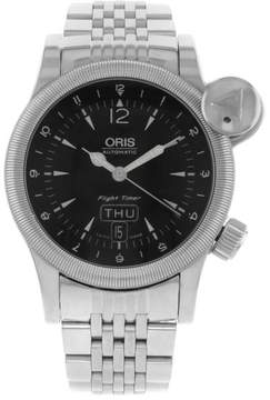 Oris 63575684064 Flight Timer Day Date Stainless Steel Automatic Mens Watch