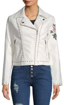 C&C California Studded and Embroidered Floral Jacket